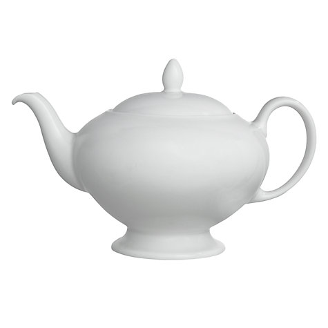 Buy Wedgwood White China Teapot, 0.8L Online at johnlewis.com
