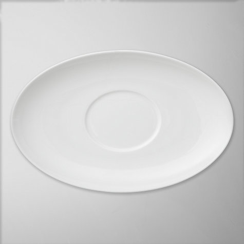Buy Wedgwood White China Sauce Boat Stand Online at johnlewis.com