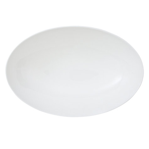 Buy Wedgwood White China Footed Oval Server, 25cm Online at johnlewis.com