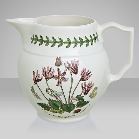 Buy Portmeirion Botanic Garden Staffordshire Jug, Cyclamen, 0.6L Online at johnlewis.com
