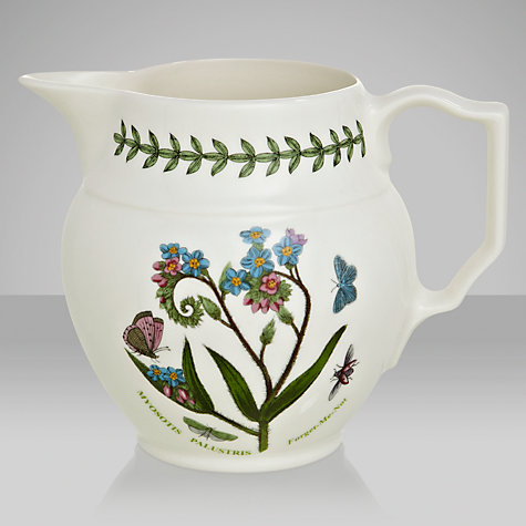 Buy Portmeirion Botanic Garden Staffordshire Jug, Forget Me Not, 0.6L Online at johnlewis.com
