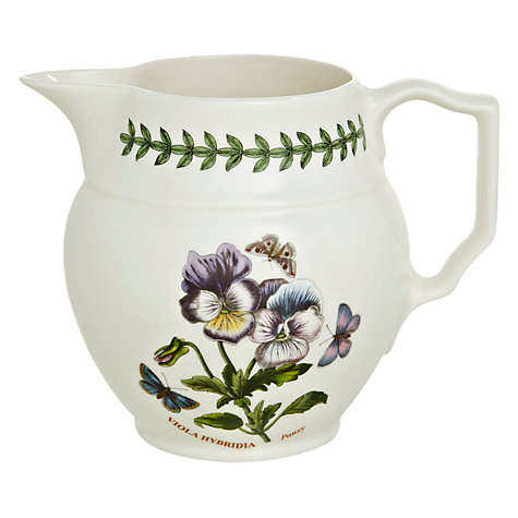 Buy Portmeirion Botanic Garden Staffordshire Jug, Pansy, 0.6L Online at johnlewis.com