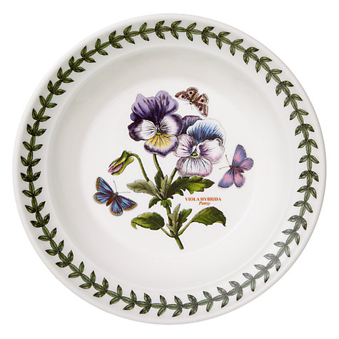 Buy Portmeirion Botanic Garden Oatmeal Bowl, Pansy, Dia.15cm Online at johnlewis.com