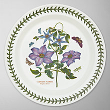 Buy Portmeirion Botanic Garden Plate, Clematis, Dia.25cm Online at johnlewis.com