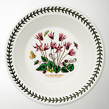 Buy Portmeirion Botanic Garden Soup Plate, Cyclamen, Dia.20cm Online at johnlewis.com