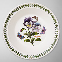 Buy Portmeirion Botanic Garden Soup Plate, Pansy, Dia.20cm Online at johnlewis.com
