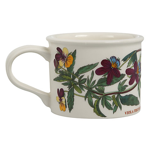Buy Portmeirion Botanic Garden Drum Shape Teacup, 0.2L, Heartsease Online at johnlewis.com