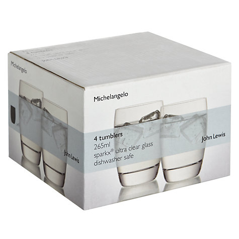 Buy John Lewis Michelangelo Glassware, Tumbler , Set of 4 Online at johnlewis.com