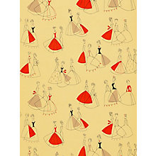Buy Sanderson Fifi Wallpaper, Yellow / Red,  210242 Online at johnlewis.com