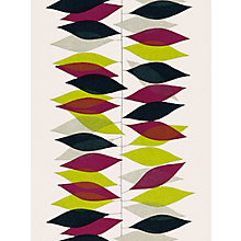Buy Sanderson Miro Wallpaper, 210228, Lime/Blackcurrant Online at johnlewis.com