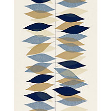 Buy Sanderson Miro Wallpaper, 210230, Pebble/Navy Online at johnlewis.com