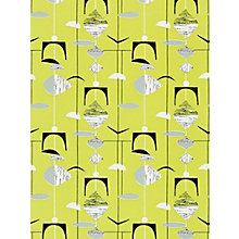 Buy Sanderson Mobiles Wallpaper, 210216, Citrus/Black Online at johnlewis.com