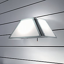 Buy Elica Light Piramide Hood, Stainless Steel/White Glass Online at johnlewis.com
