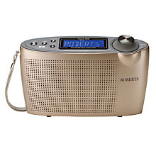 Buy ROBERTS Classic DAB Digital Radio, Gold Online at johnlewis.com