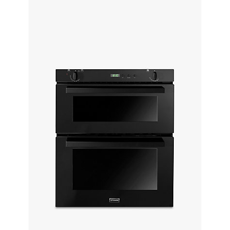 Buy Stoves SGB700PS Double Built-Under Gas Oven, Black Online at johnlewis.com