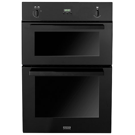 Buy Stoves SGB900PS Double Built-in Gas Oven, Black Online at johnlewis.com