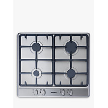 Buy Stoves SGH600C Gas Hob, Stainless Steel Online at johnlewis.com