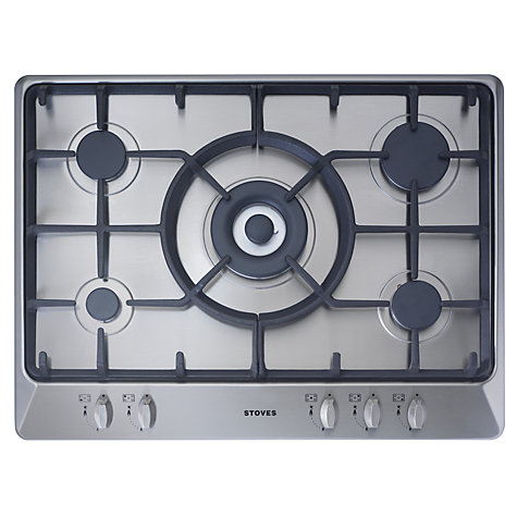 Buy Stoves SGH700C Gas Hob, Stainless Steel Online at johnlewis.com
