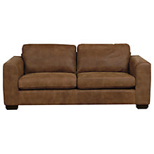 Buy John Lewis Felix Large Leather Sofa with Dark Legs Online at johnlewis.com