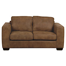 Buy John Lewis Felix Small Leather Sofa with Dark Legs Online at johnlewis.com