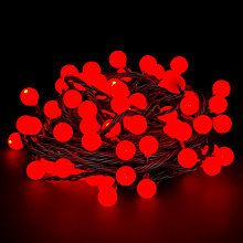 Buy John Lewis Indoor/Outdoor LED Berry Christmas Line Lights, x100, Red Online at johnlewis.com