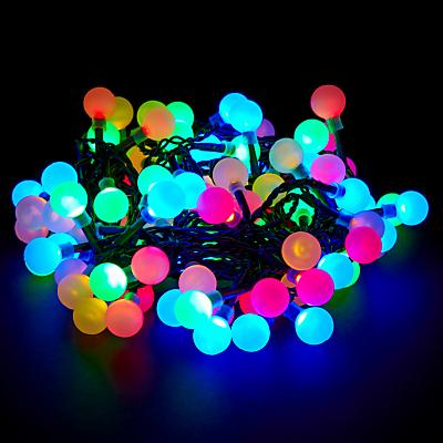 John Lewis Indoor/Outdoor LED Popsicle Line Lights, Multi, x100