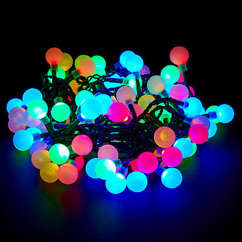 Buy John Lewis Indoor/Outdoor LED Popsicle Christmas Line Lights, x100 Online at johnlewis.com