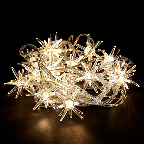 Buy John Lewis Indoor LED Starburst Lights, White, x16 Online at johnlewis.com