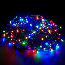 Buy John Lewis Outdoor LED Christmas Line Lights, Multi, x160 Online at johnlewis.com