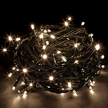 Buy John Lewis Indoor/Outdoor LED Christmas Line Lights, Soft White, x80 Online at johnlewis.com