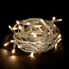 Buy John Lewis Indoor Battery Operated LED Multi Effect Christmas Line Lights, White, x25 Online at johnlewis.com