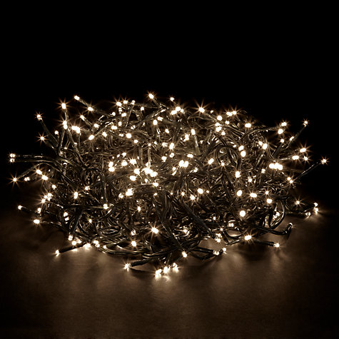Buy John Lewis Indoor/Outdoor LED Cluster Christmas Line Lights, x360 Online at johnlewis.com