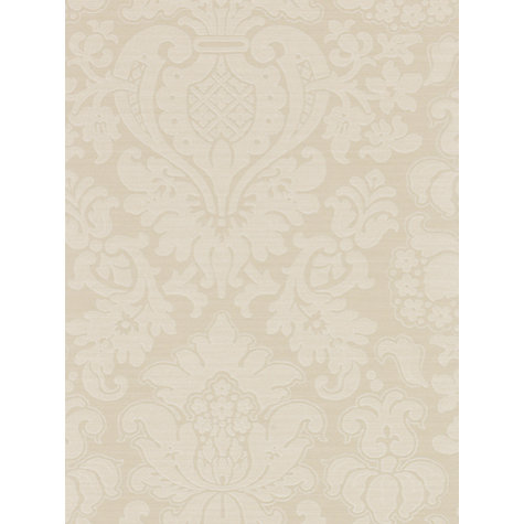 Buy Zoffany Tussah Damask Wallpaper, Oyster, Paw02006 Online at johnlewis.com