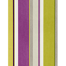 Buy Harlequin Bella Stripe Wallpaper, Fennel/Cassis, 110051 Online at johnlewis.com