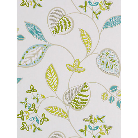 Buy Harlequin Samara Wallpaper, Leaf/Teal, 110044 Online at johnlewis.com