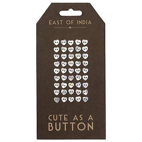 Buy East of India Little Heart Buttons Online at johnlewis.com