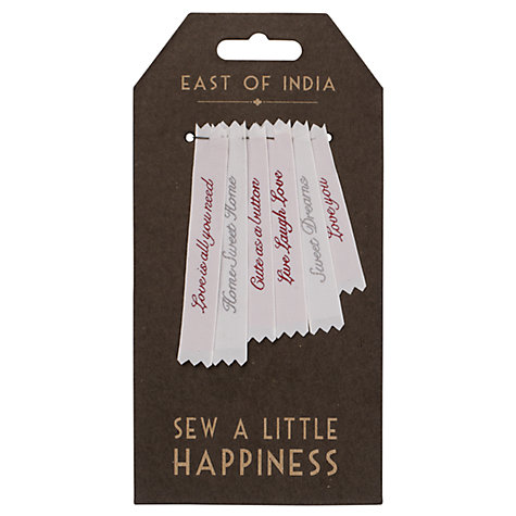 Buy East of India Woven Home Labels Online at johnlewis.com