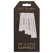 Buy East of India Woven Wedding Labels Online at johnlewis.com