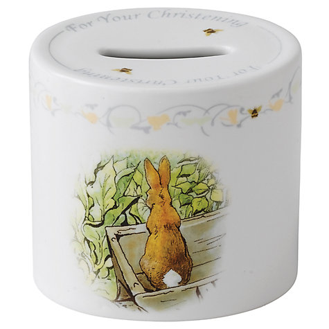 Buy Wedgwood Peter Rabbit Money Box and Book Online at johnlewis.com