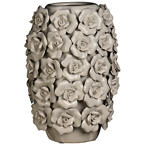 Buy Brissi Betty Barrel Vase, H25cm, Grey Online at johnlewis.com