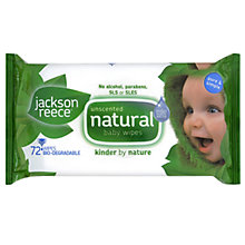 Buy Jackson Reece Natural Unscented Baby Wipes, 72 Wipes Online at johnlewis.com