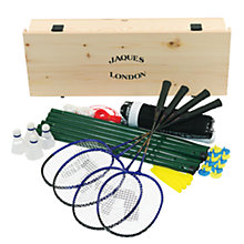 Buy Jaques Challenge Luxury Garden Badminton Set Online at johnlewis.com