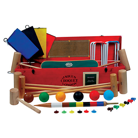 Buy Jaques Edenbridge Croquet Set, Red/Multicoloured Online at johnlewis.com