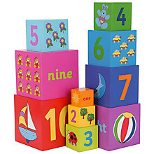 Buy John Lewis Wooden Stacking Cubes Online at johnlewis.com