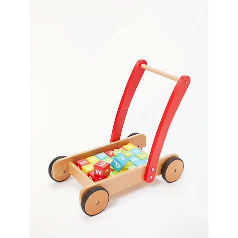 Buy John Crane Wooden Baby Walker and Bricks Online at johnlewis.com