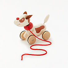 Buy John Lewis Pull Along Charlie Dog Online at johnlewis.com