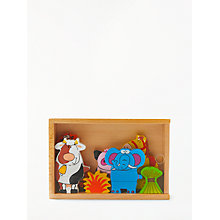 Buy John Lewis Wooden Magnetic Puzzle Online at johnlewis.com