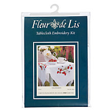 Buy Strawberries Tablecloth Embroidery Kit Online at johnlewis.com