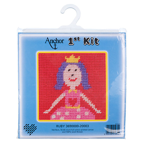 Buy Anchor First Cross Stitch Kit, Ruby Online at johnlewis.com