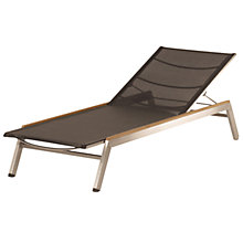 Buy Equinox Sun lounger with graphite trim and titanium sling Online at johnlewis.com